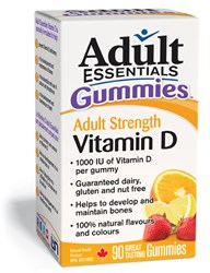 Adult Essetnials Vitamin D Supplement in chewable gummy form