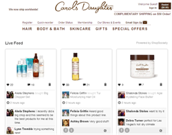 Carol's Daughter Shopping Community Page by ShopSocially