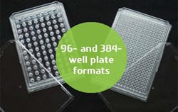 Perfecta3D Hanging Drop Plates are available in 384- and 96-well formats.
