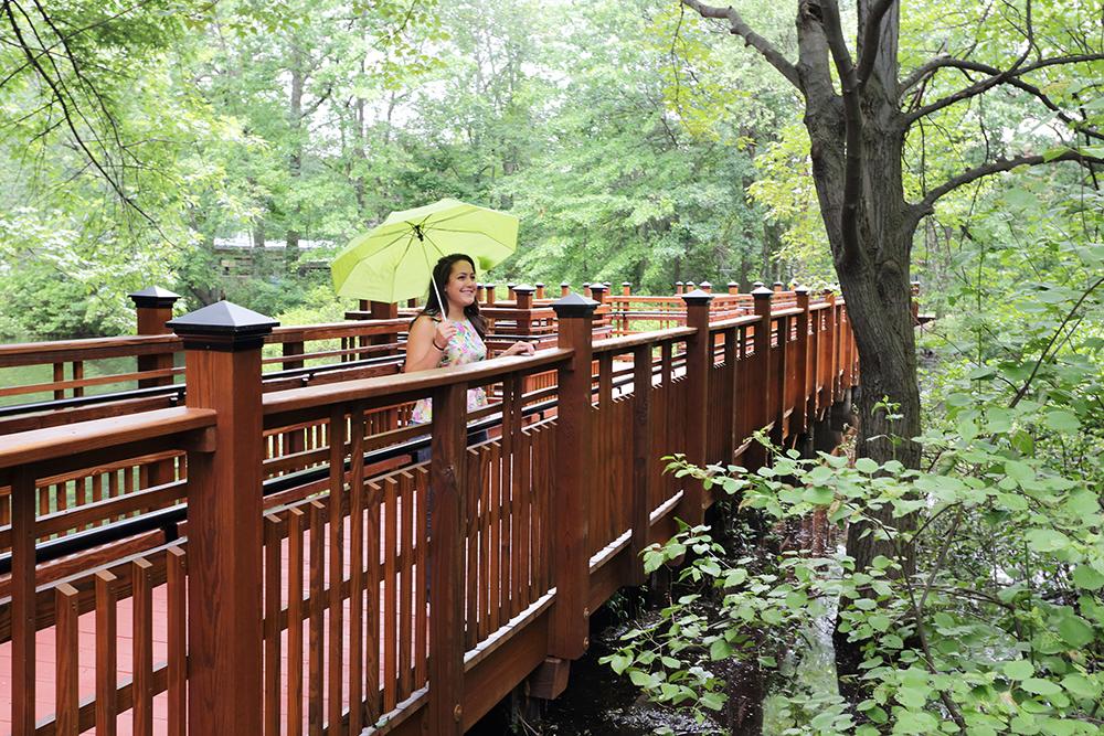 York Bridge Concepts Ybc Completes A Timber Pedestrian