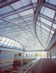 daylighting design, daylight control, skylights, louvers, solar shading, louvered glazing