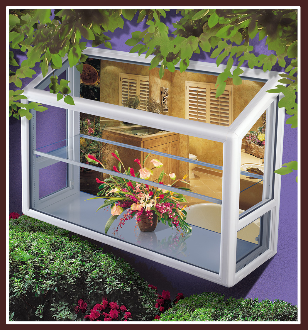 Tru frame r greenhouse windows select vycom s celtec for Garden window