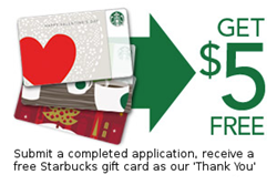 Get Free Starbucks Gift Card For Completing a Free Small Business Loan Application