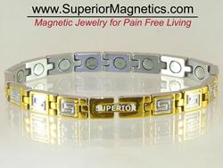 Magnetic Bracelet with Greek Key Design