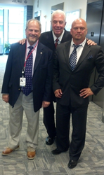 David Gergen and Dr. Elliott Alpher with Congressman Marty Russo