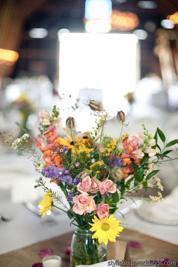 august is wildflower wedding month. Black Bedroom Furniture Sets. Home Design Ideas
