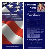 Political Brochure Templates by Online Candidate