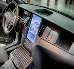 In Dash Monitor System in Ford Police Interceptor Sedan