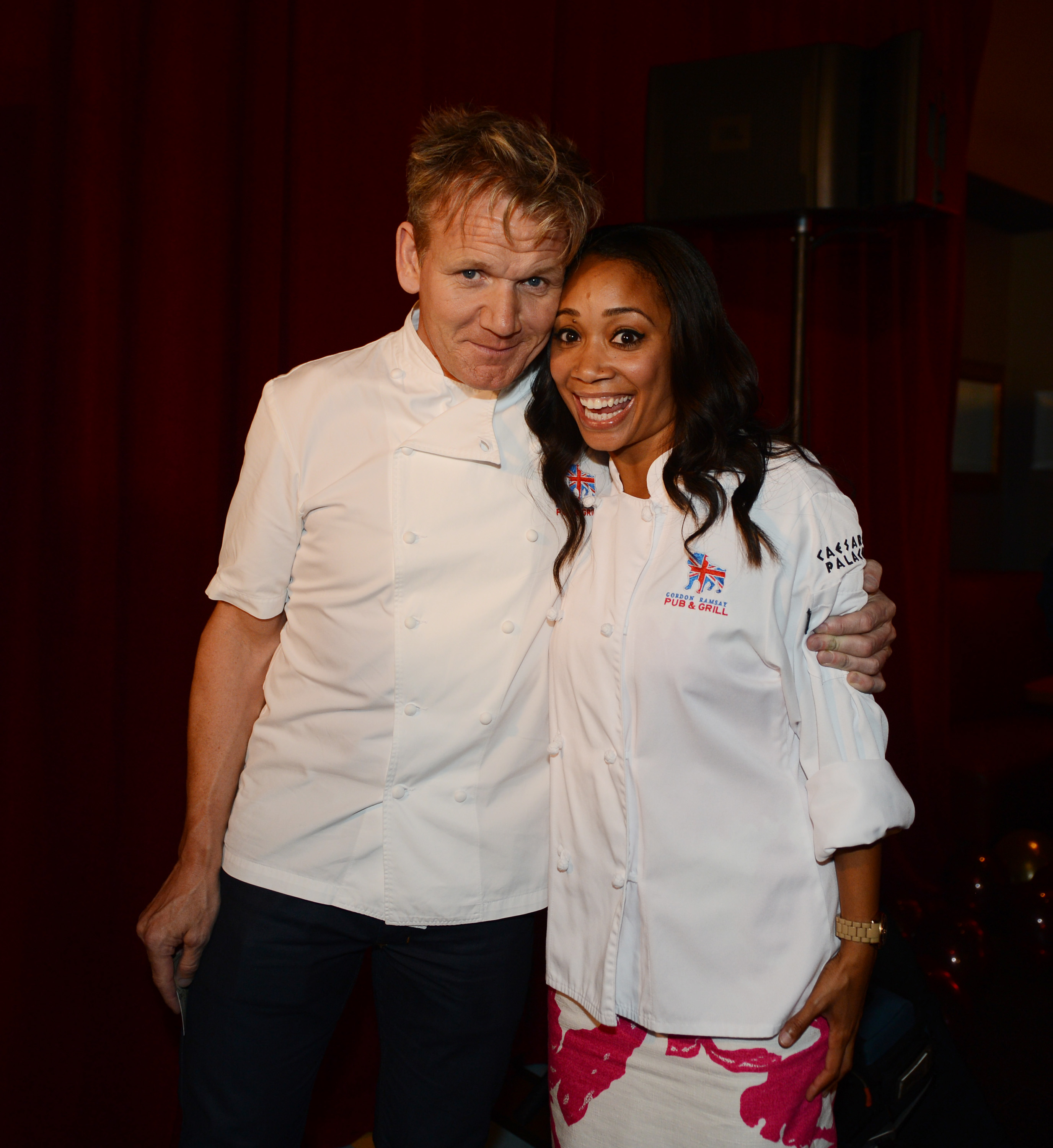 Hell's Kitchen Season 11 winner, Ja'Nel Witt, and Chef Gordon