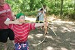 Beep archery is a popular activity at Heather's Camp.