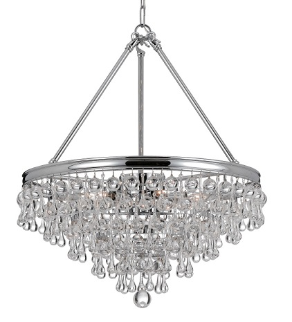 Homethangs has introduced a guide to affordable alternatives crystorama 137 ch chandelier with clear smooth glass balls accents with polished chrome finish on a solid brass frame mozeypictures Image collections
