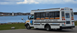 Granite State Growler Tours, bus at Portsmouth Light (photo credit, Greg Chag)
