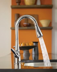 moen 7594 single handle high arc pullout kitchen faucet from the arbor collection