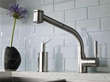 rohl r7923 side lever pull-out kitchen faucet from the modern series