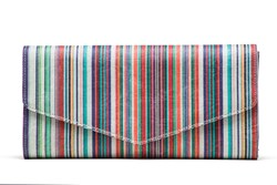 Jill Milan New Canaan Clutch striped