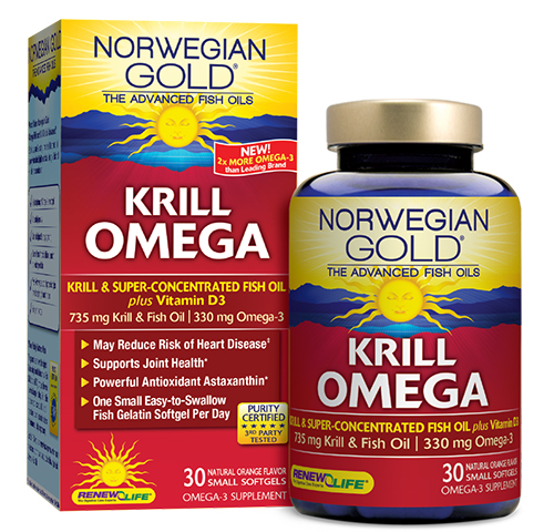 Renew life introduces norwegian gold krill omega an for Fish oil brands