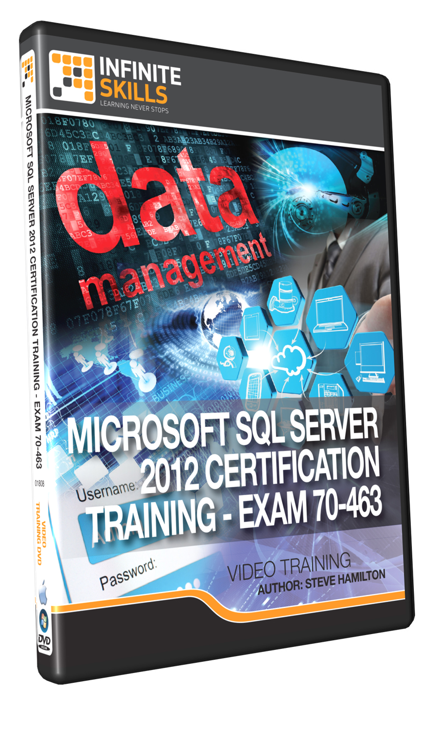 Infinite skills microsoft sql server 2012 70 463 certification infinite skills microsoft sql server 2012 70 463 certification training offers task based visual guide to study for the sql server 2012 70 463 exam xflitez Gallery