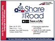 Share the Road Kick Off Event Annoucement