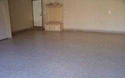 Local Contractors Choose One Day Floors For Decorative Garage - Flooring contractors okc