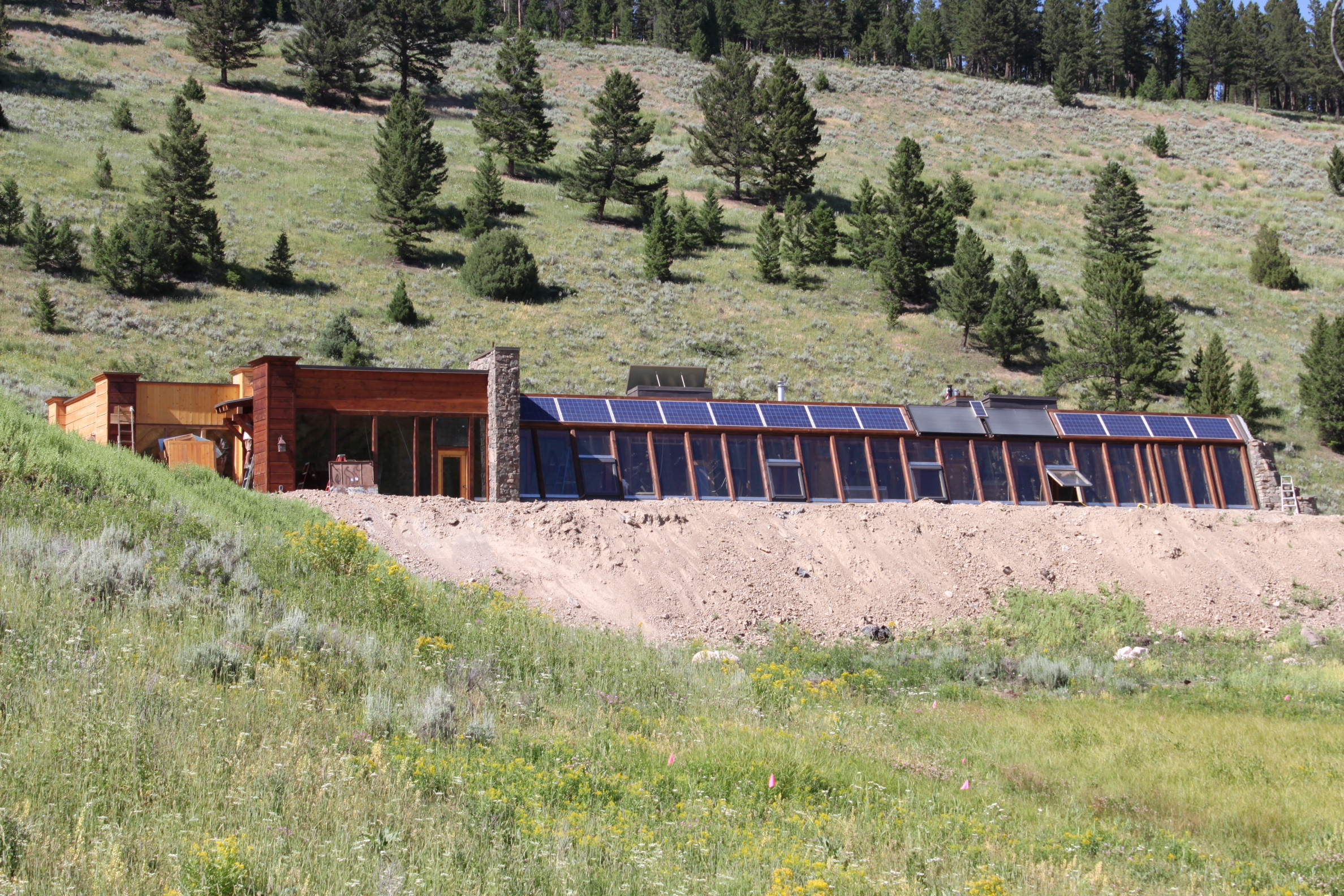 Big Sky  Montana U2019s First Earthship Is Complete And Open To