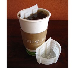 Brewlux® recyclable to-go tea filter