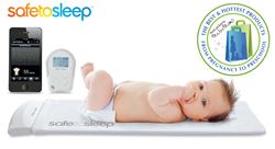 SafeToSleep Sleep and Breathing Baby Monitor with MetroMoms Seal