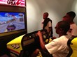 Campers apply the principles of aerodynamics  in these racing car simulators.
