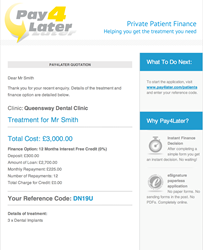 Pay4Later Healthcare Finance