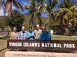 Harith Wickrema presents Eco Serendib Beach Restoration Project funding. From left: Karen Vahling and Joe Kessler of Friends of the Virgin Islands National Park; Harith Wickrema of Eco Serendib Villa; Brion FitzGerald, Superintendent,
