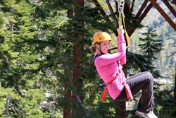 Zip Yosemite offers exciting tours amidst towering incense cedar and ponderosa pines at 5000 feet elevation just outside of Yosemite National Park.