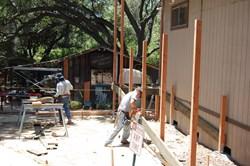 Men working on the Lower School Campus of Pasadena Waldorf School