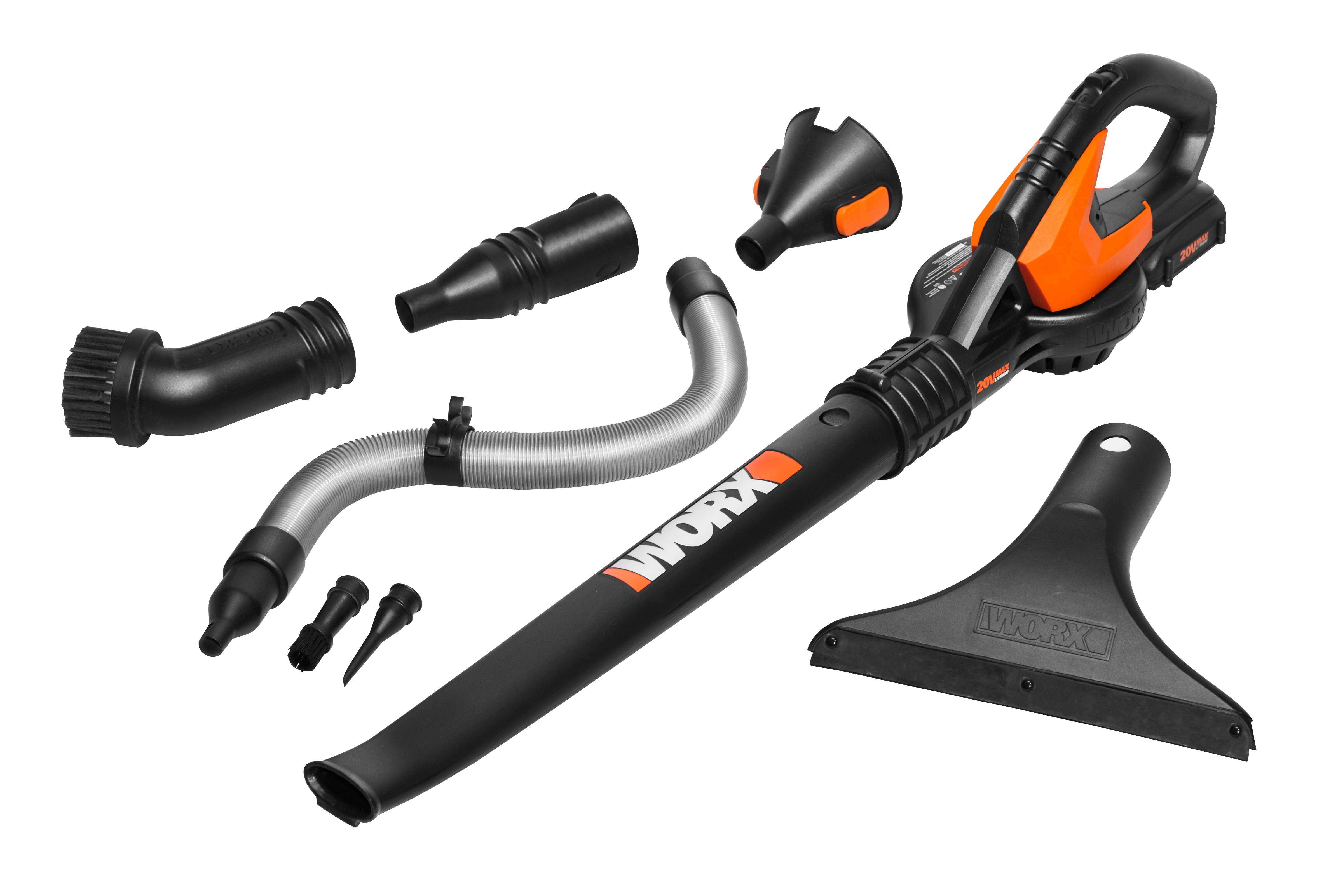 Air Blower Work : Worx air blower sweeper with new attachments stops