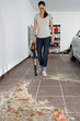 WORX Blower/Sweeper is a time saver when cleaning the garage