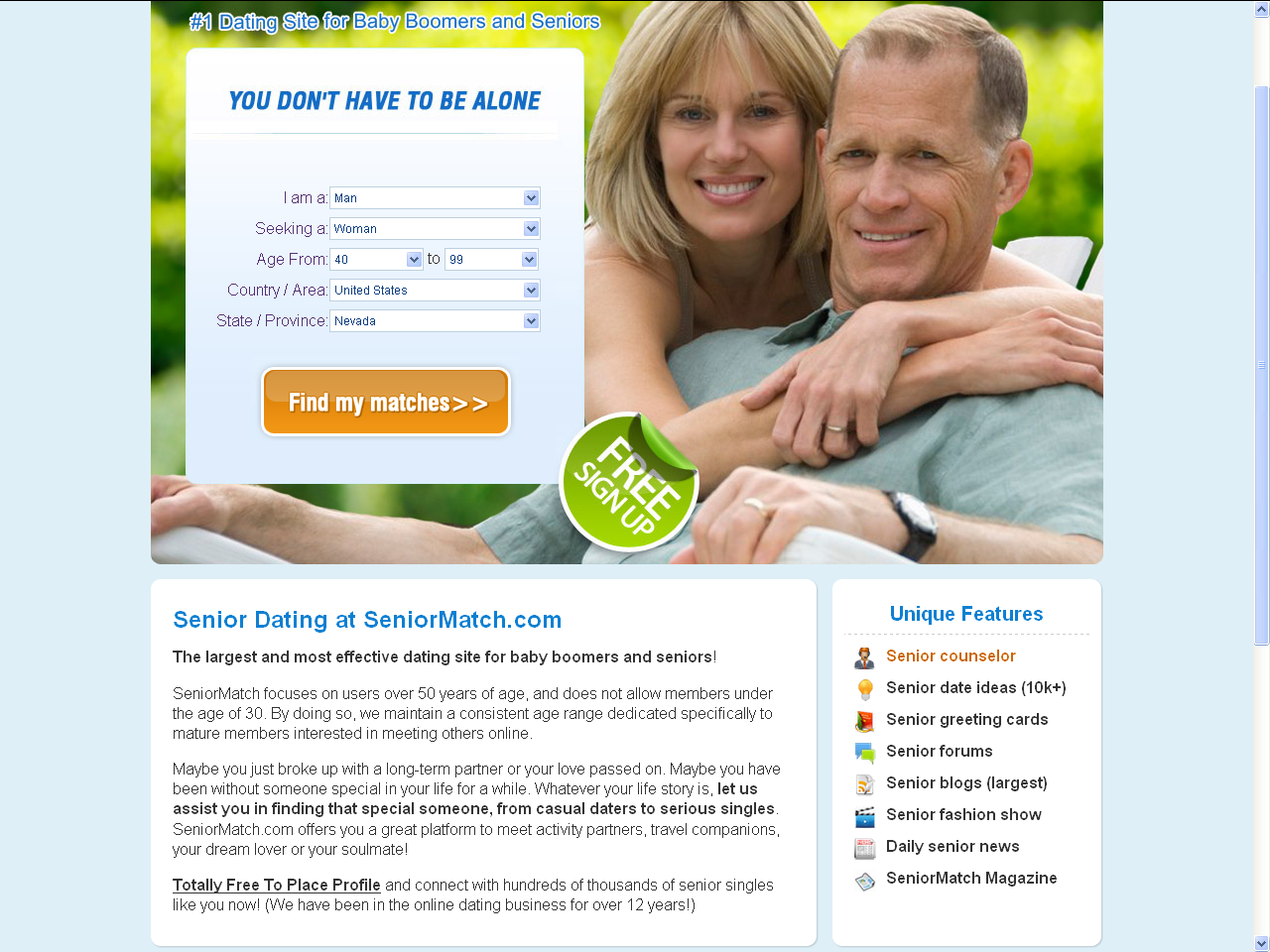 ljusdal senior dating site Seniormatchcom has been placed as the #1 senior dating site in our overall reviews check the detailed seniormatchcom reviews to lean why it becomes the best online senior dating site.