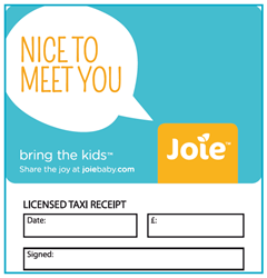 Transport Media - Joie Baby Taxi Advertising