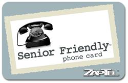 Senior Friendly Phone Card