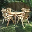 Contoured Comfort Parquet Dining Table & Chairs