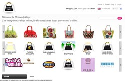 E Commerce website design for Adele Bags by Vizcom Design