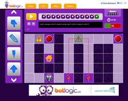 BotLogic.us screenshot; logic games; games for kids; educational games