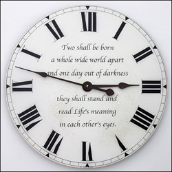 First Anniversary Clock with Special Quote