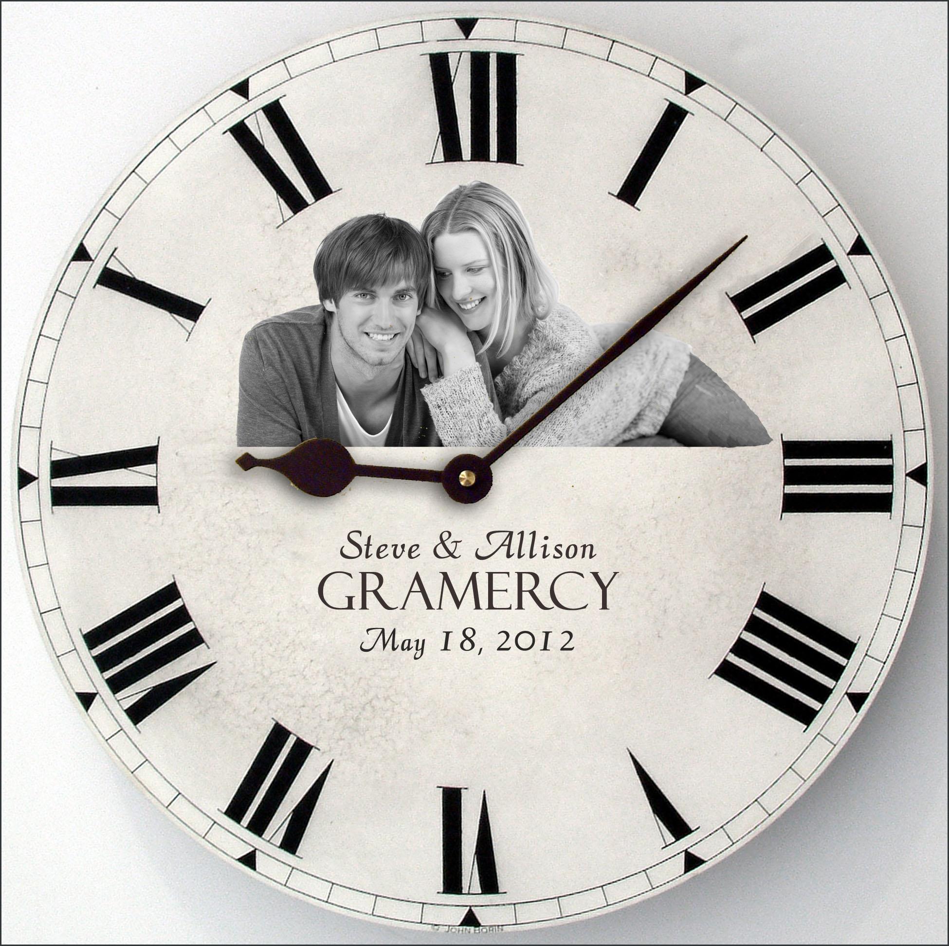 1st wedding anniversary gifts clock