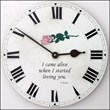 First Anniversary Clock with Pink Rose