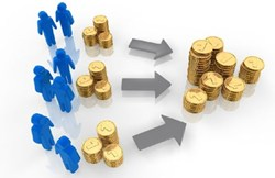 Crowdfunding refers to the funding of a company by selling small amounts of equity to many investors.