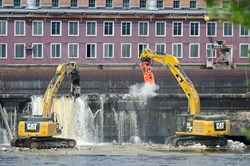 Removal of the Veazie Dam.  Photo:  Tom Moffatt/Atlantic Salmon Federation