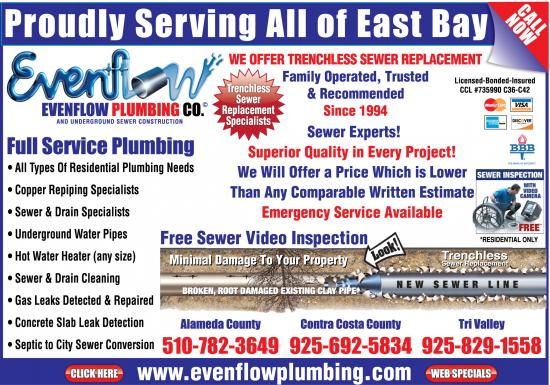 Oakland copper repipe specialists at evenflow plumbing are for Plumbing cost estimator free