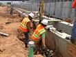 raising train inspection pits using foundation underpinning