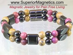 Magnetic Bracelet with Gemstones