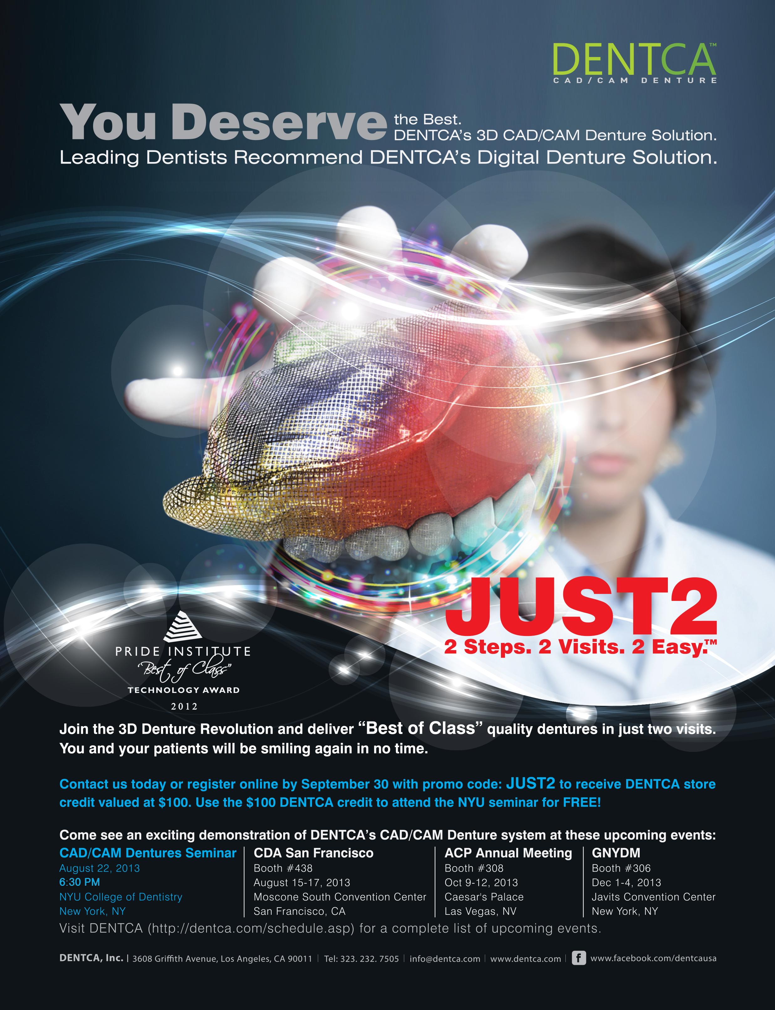New York University College of Dentistry Hosting DENTCA CAD