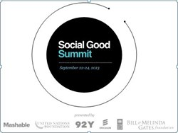 Social Good Summit logo with partner names