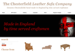 E Commerce website for The Chesterfield Leather Sofa Company by Vizcom Design